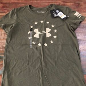 NWT Under Armour Freedom Tee Size S